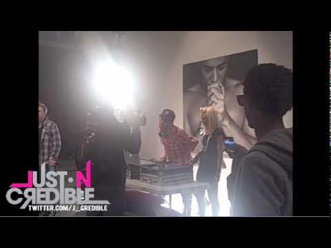 "Mann X JustinCredible ""Text"" Video Shoot 03.14.10"