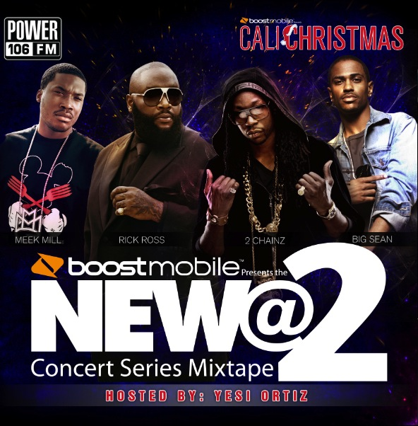 Boost Mobile Presents Power 106 2012 Cali Xmas New At 2 Concert Series Mixtape (Front & Back)