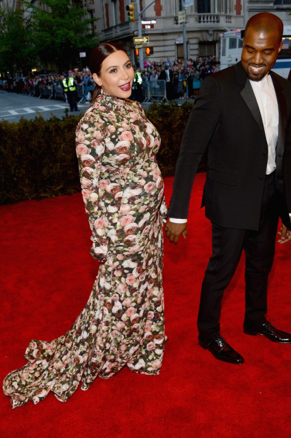 Kim and Kanye at the Met Gala 2013