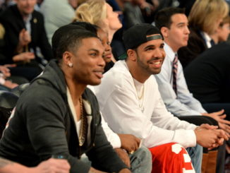 NEW ORLEANS, LA - FEBRUARY 15: Nelly (L) and Drake attend the State Farm All-Star Saturday Night during the NBA All-Star Weekend 2014 at The Smoothie King Center on February 15, 2014 in New Orleans, Louisiana.  (Photo by Mike Coppola/Getty Images)