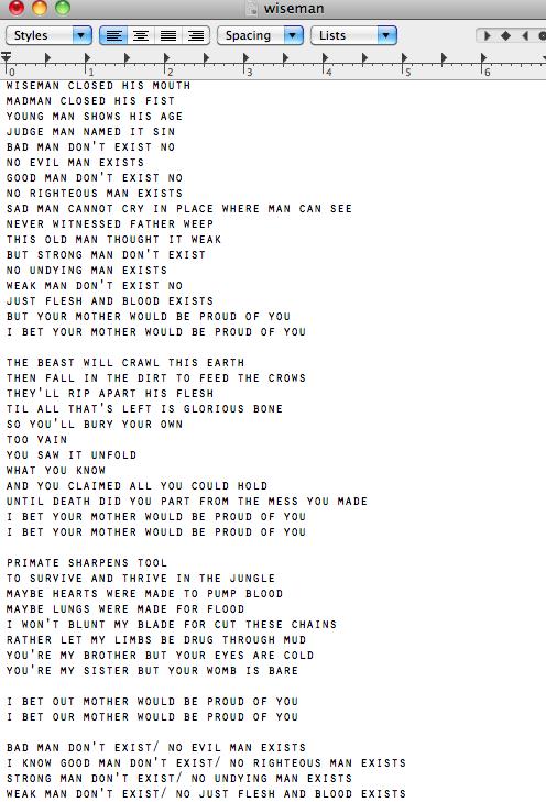 rr - Lyrics To This Christmas