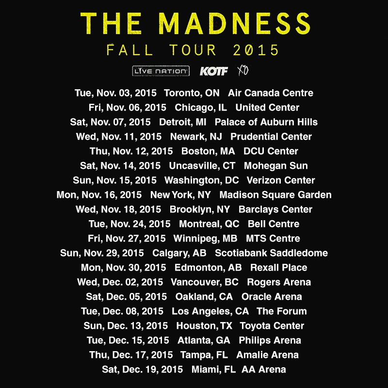 Weeknd tour dates